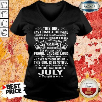 This Girl Is Beautiful July Girl V-neck