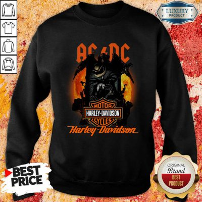 AC DC Motor Harley Davidson Cycles Sweatshirt