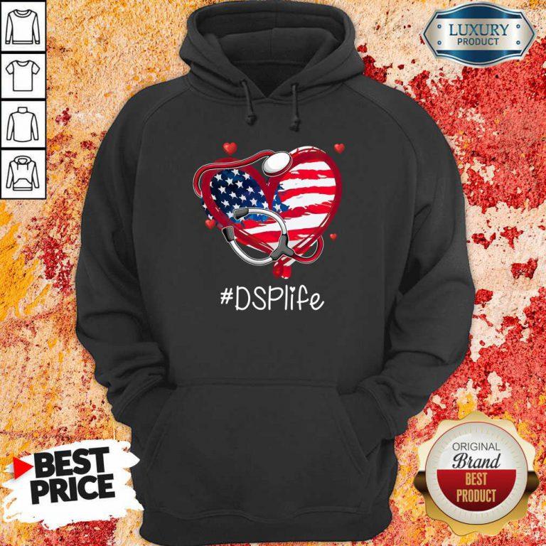 America Nurse Heart DSP Life Hoodie