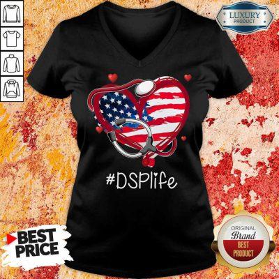 America Nurse Heart DSP Life V-neck