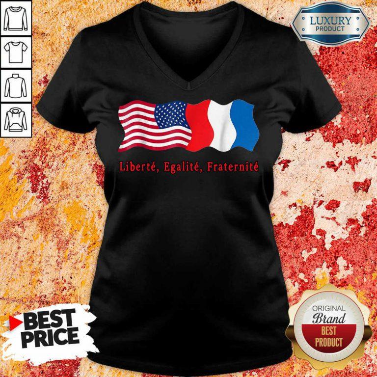 American Liberte Egalite Fraternite V-neck