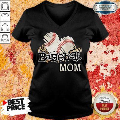 Baseball Mom V-neck