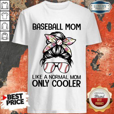 Bun Hair Baseball Mom Only Cooler Shirt