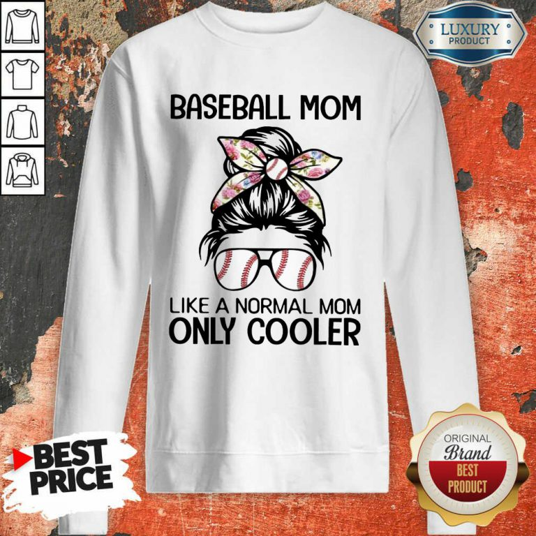 Bun Hair Baseball Mom Only Cooler Sweatshirt