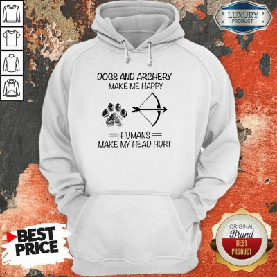 Dog And Archery Humans Hoodie