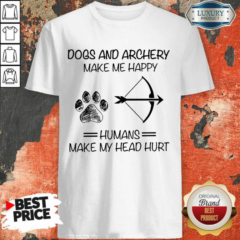 Dog And Archery Humans Shirt