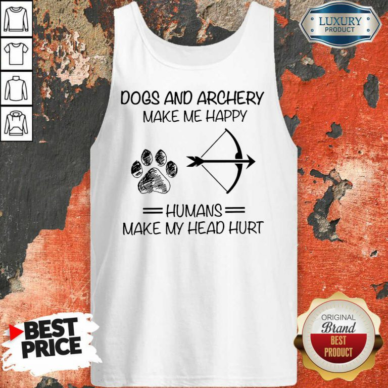 Dog And Archery Humans Tank Top