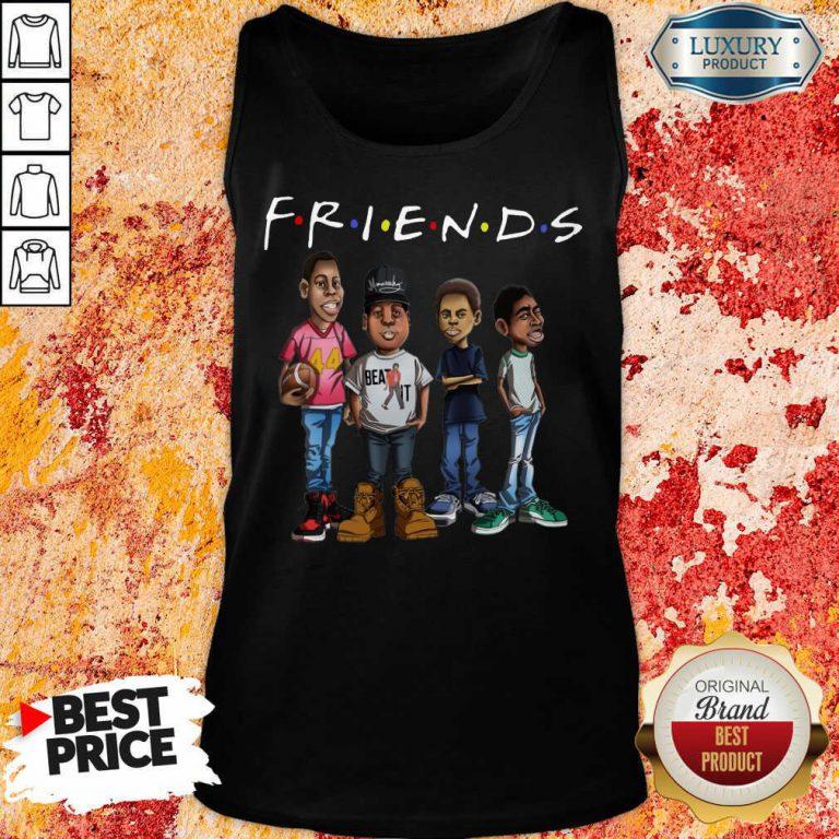 Friends Black Men Brother Tank Top