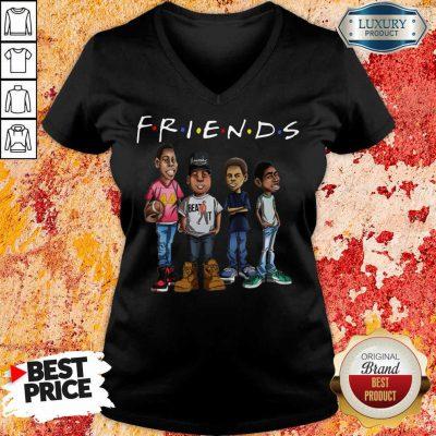Friends Black Men Brother V-neck
