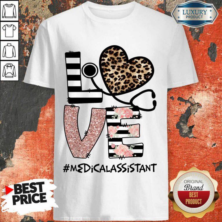 Love Leopard Medical Stethoscope Medical Assistant Shirt