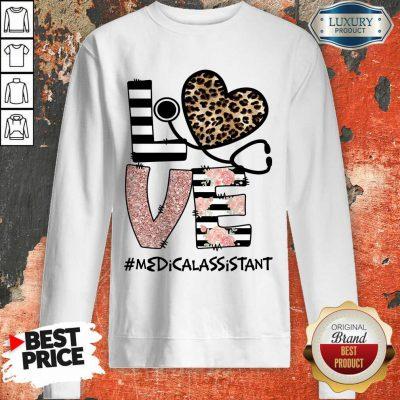 Love Leopard Medical Stethoscope Medical Assistant Sweatshirt