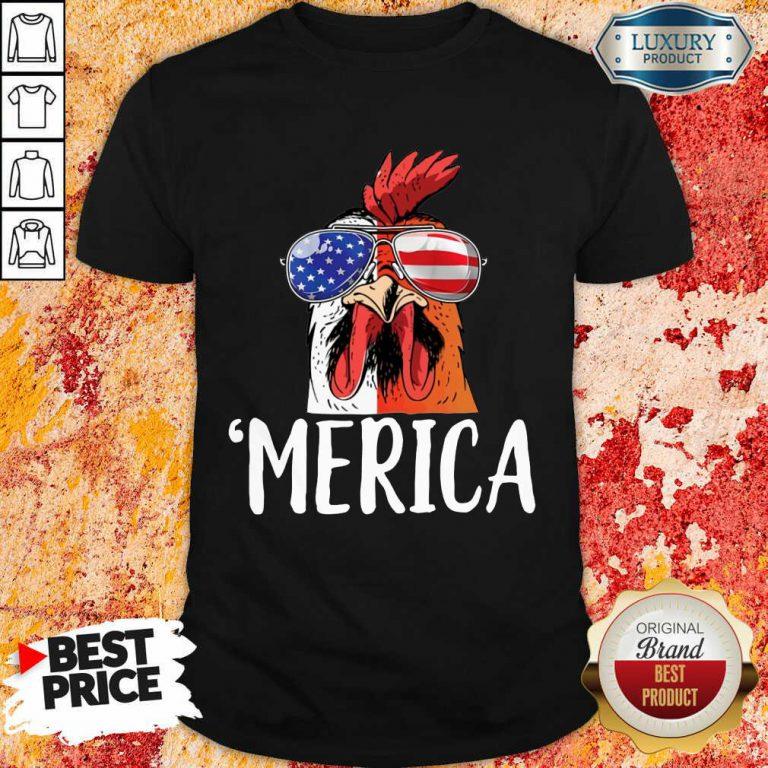 Nice Chicken Merica 4th of july Shirt