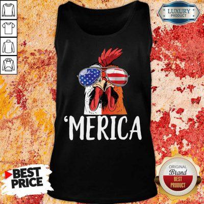 Nice Chicken Merica 4th of july Tank Top