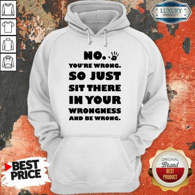 No You're Wrong So Just In Your Hoodie