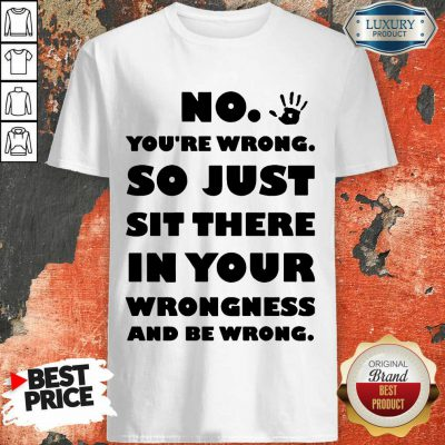 No You're Wrong So Just In Your Shirt