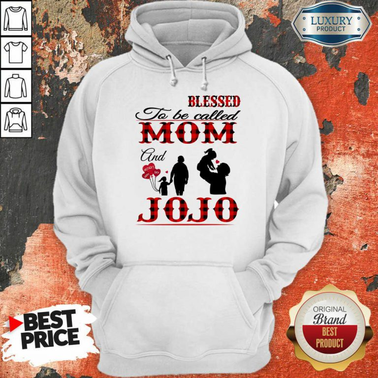 Red Blessed To Be Called Mom And Jojo Hoodie