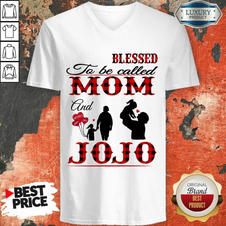 Red Blessed To Be Called Mom And Jojo V-neck