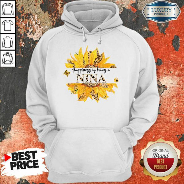 SunFlower Leopard Happiness Is Being A Nina Hoodie