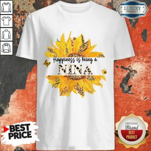 SunFlower Leopard Happiness Is Being A Nina Shirt