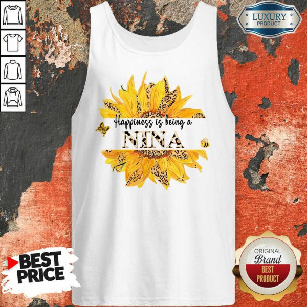 SunFlower Leopard Happiness Is Being A Nina Tank Top