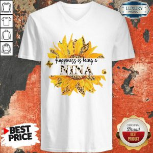 SunFlower Leopard Happiness Is Being A Nina V-neck