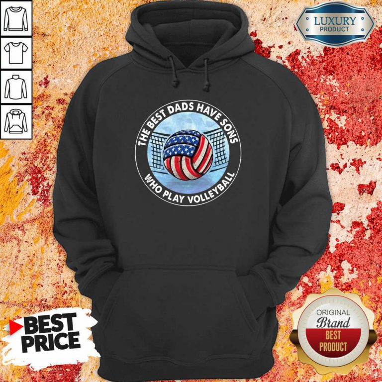 The Best Dad Sons Volleyball Hoodie