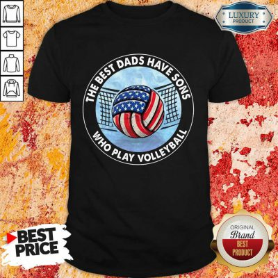 The Best Dad Sons Volleyball Shirt