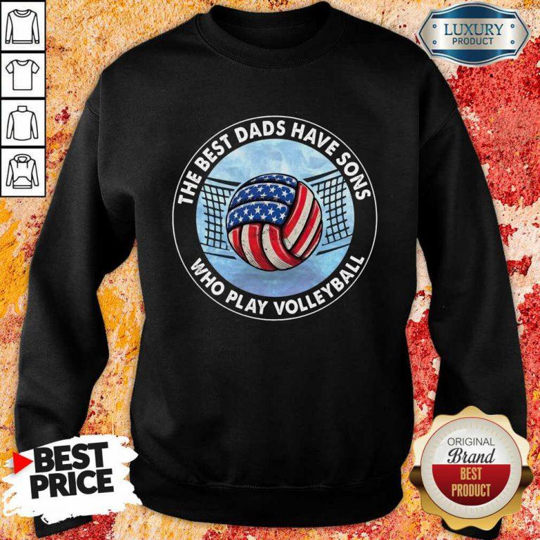 The Best Dad Sons Volleyball Sweatshirt