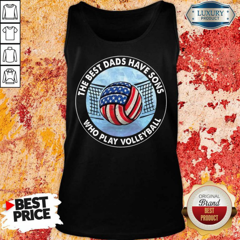 The Best Dad Sons Volleyball Tank Top