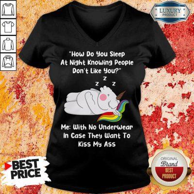 Unicorns How Do You Sleep At Night V-neck