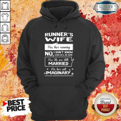 Runners Wife Married Imaginary Hoodie